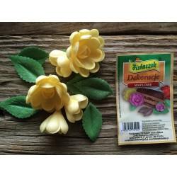 Dekoracje róża średnia angielska żółta
